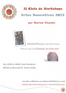 II Ciclo de Workshops | Macramé & Pintura com Cera